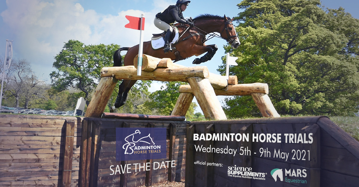 Save the date Badminton Horse Trials 2021