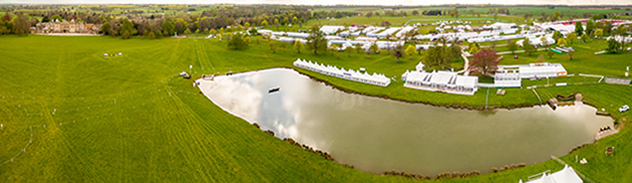 Arial panoramic of the Badminton showground