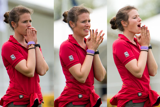 Michael Jung's girlfriend goes through all the emotions