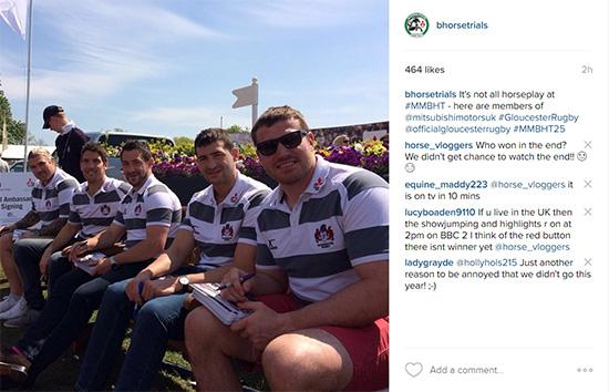Gloucester Rugby - Badminton Instagram