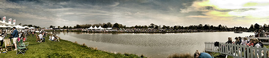 Panoramic of the lake on Cross Country Day