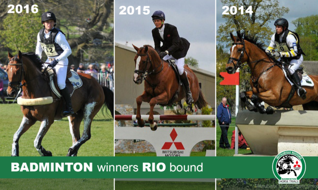 Michael Jung represents Germany with his 2016 Mitsubishi Motors Badminton Horse Trials title winner and London 2012 gold medal ride La Biosthetique – Sam FBW, whilst Great Britain's William Fox-Pitt forms part of Team GB with his 2015 winning ride, the famous stallion Chilli Morning. The third of our recent winners in Rio is Australia's Sam Griffiths with his 2014 title holder, Paulank Brockagh.