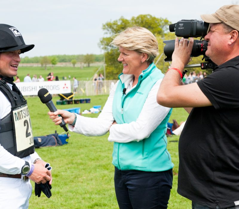 Michael Jung interviewed by Clare Balding on the BBC